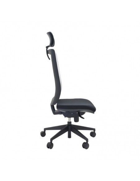Silla de escritorio Kind malla de tecno ofiss en negro