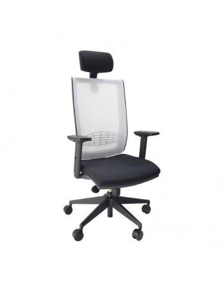 Silla de escritorio con reposacabezas Kind malla de tecno ofiss