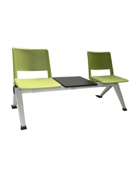 Bancada varias plazas con mesa Track de tecno ofiss en verde