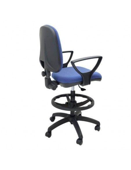 Silla alta oficina con brazos OCP de tecno ofiss en color azul