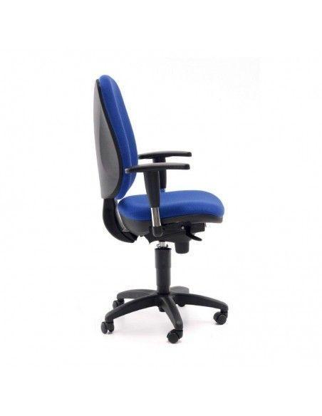 Silla oficina con brazos Anthea de Tecno Ofiss en color azul