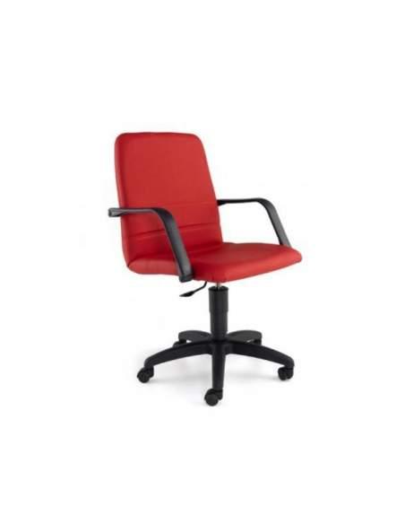 Silla despacho Confort de Tecno-Ofiss en rojo