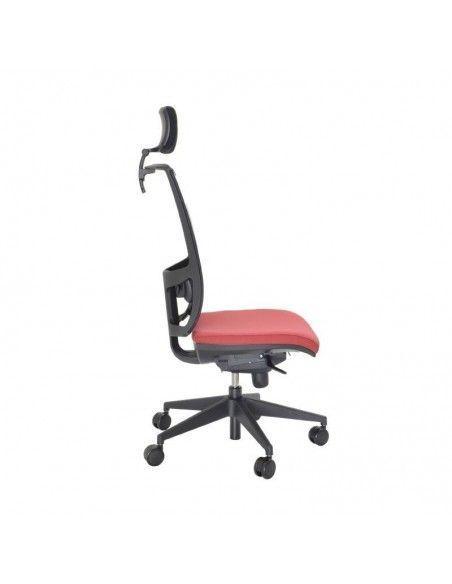 Silla oficina con reposacabezas Myst Red de Tecno-Ofiss de color rojo