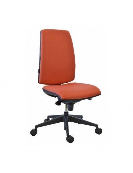 Silla escritorio Open sincro de Tecno-Ofiss en rojo