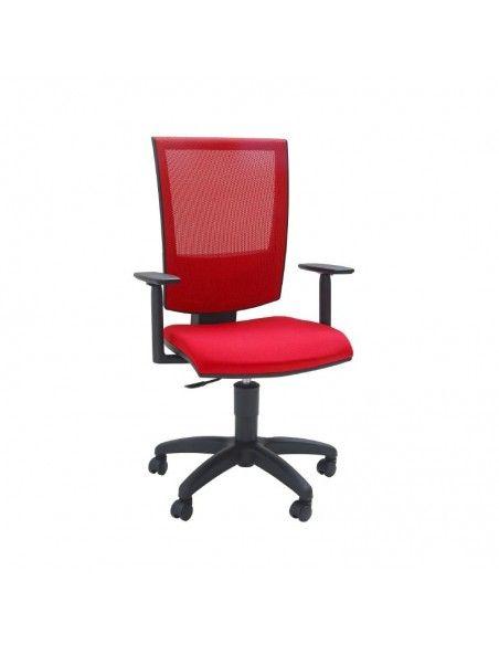 Silla estudio con brazos Open Red de Tecno-Ofiss en rojo