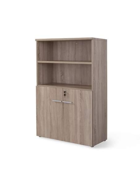 Armario oficina de madera mediano con puertas bajas de JGorbe entrega express