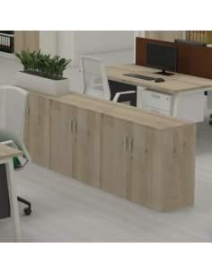 Armario oficina bajo de madera de Kesta