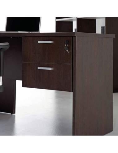 Cajonera oficina colgante de madera 2 cajones de Kesta