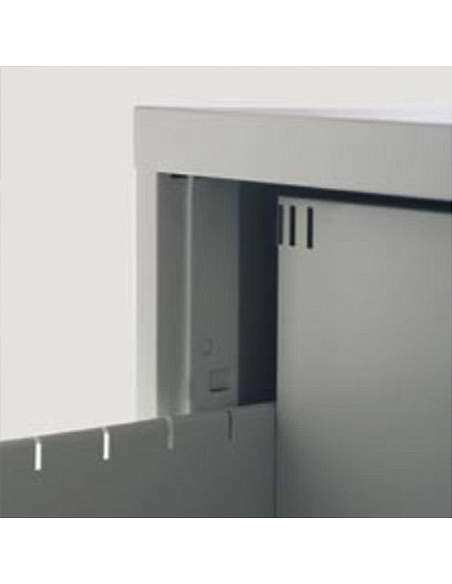 Detalle interior mueble archivador 4 cajones de More Squared