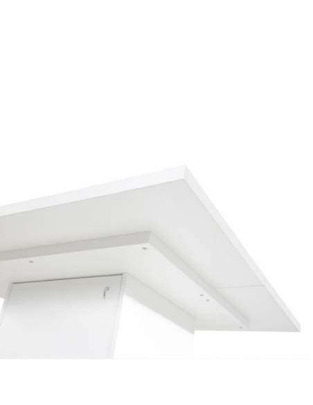 Detalle tablero mesa reuniones rectangular serie G3 de Jgorbe en blanco