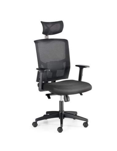 silla oficina viena euromof negra con cabezal