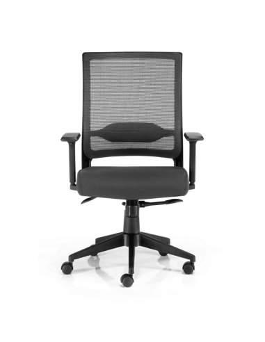 silla de trabajo sidney de euromof con brazos regulables y entrega inmediata
