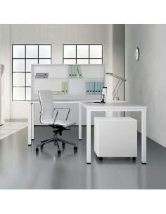 mesa de trabajo blanca 4 patas modelo q50 de aic