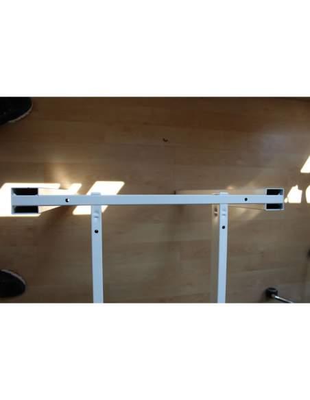 estructura blanca de la extension de la mesa oficina serie q50 de aic