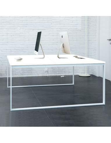mesa trabajo en grupo blanca entrega rapida q60 de aic