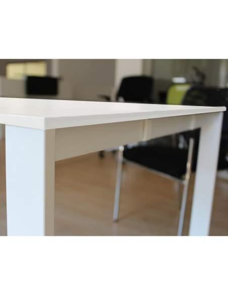 detalle estructura blanca bench trabajo en grupo de aic