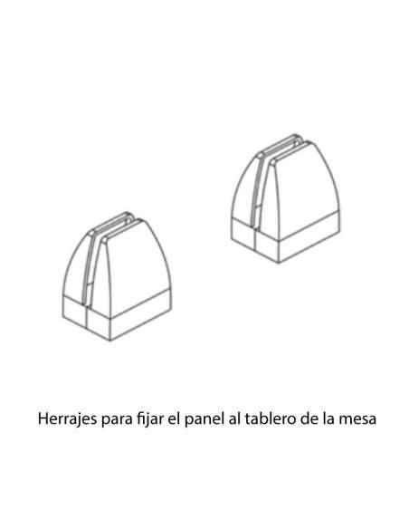 herraje para unir panel separador con tablero de bench o isla de trabajo de aic