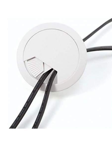 tapa pasacables redonda blanca de 6 cm. de diámetro de aic