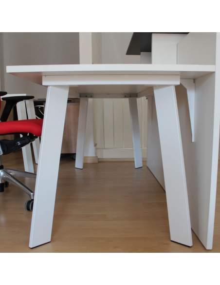 lateral mesa de oficina blanca serie rec de aic con envío express