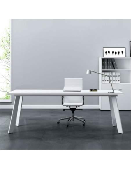 mesa de direccion serie rec de aic en color blanco con entrega inmediata
