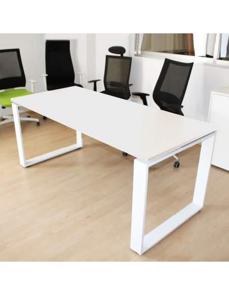 mesa direccion marc blanca con pata metalica de aic envio rapido