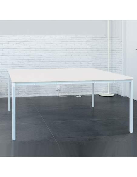 bench mesas trabajo en grupo q50 color blanco stock rapido de aic