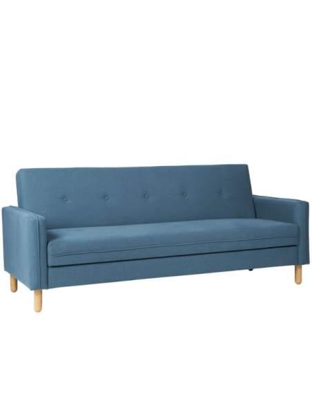 Sofá cama para zonas de descanso de oficina color azul.