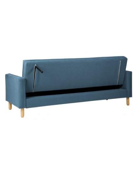 Sofá para recepción modelo Delhi. Tapizado azul.