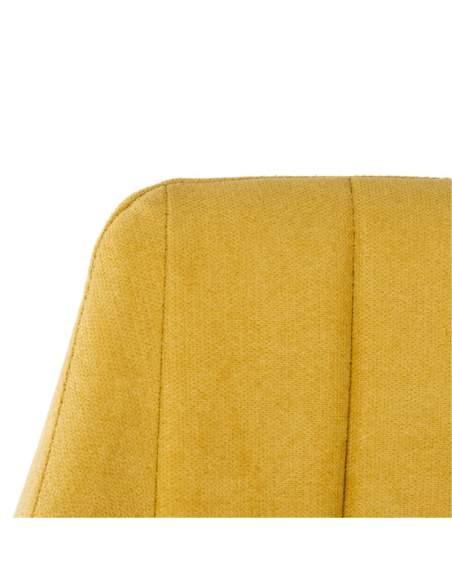 detalle tapizado mostaza silla fiona