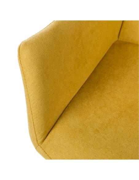 detalle costura tapizado mostaza somcasa