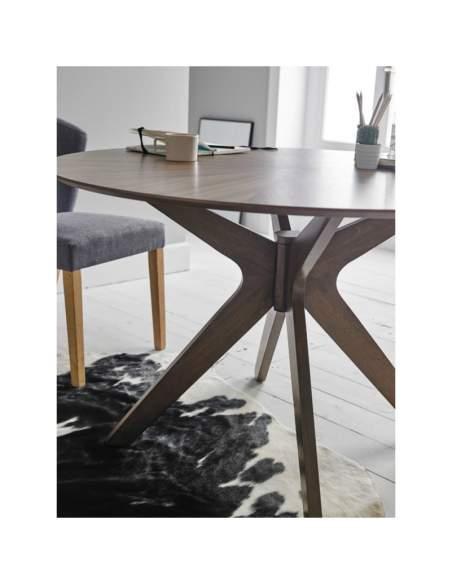 mesa de madera redonda carmel