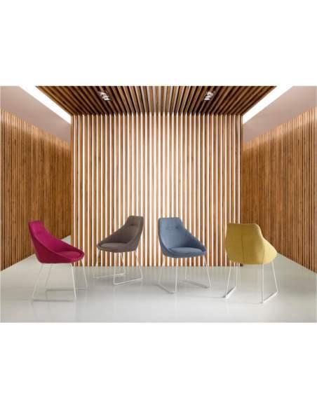 sillas modernas de diseño tapizadas alba somcasa