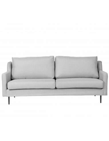 Mobiliario moderno para oficinas, sofá de dos plazas London, de color gris claro.