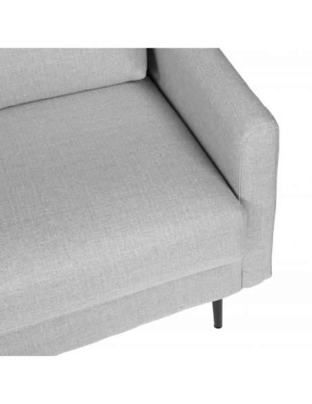 Sofá de diseño, moderno de color gris claro, modelo London.