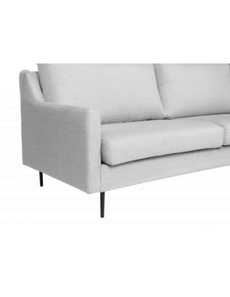 Sofá de diseño para sala de espera modelo London, de color gris claro.