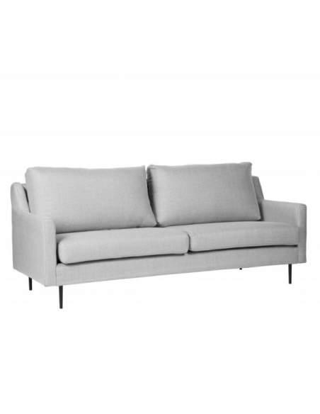 Sofá moderno de oficina modelo London de color gris claro.