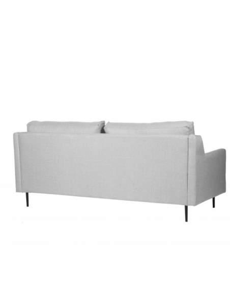 Sofá de para sala de espera, modelo London de dos plazas y color gris claro.