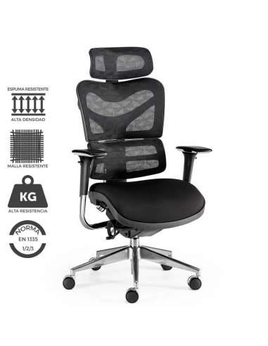 Silla de oficina XXL modelo NEW ERGOSTONE, ideal para personas corpulentas y altas.