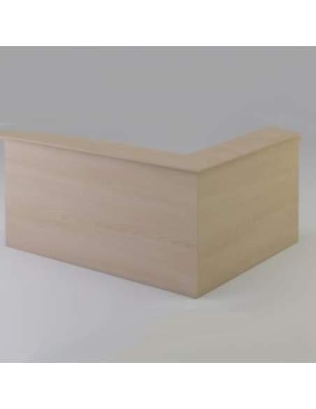 Mostrador de recepción en L con mesa de mostrador incluida. Mesa independiente.