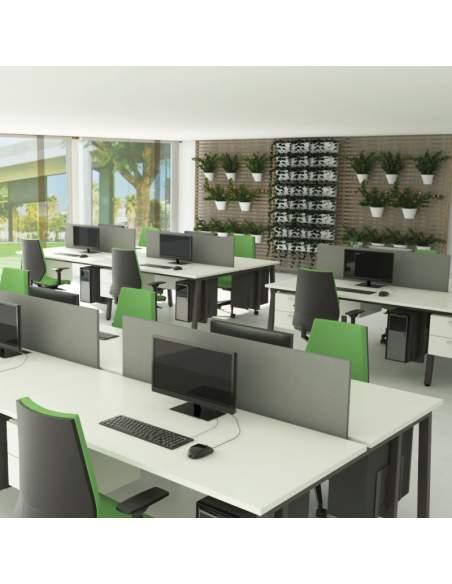 bench para grupo de trabajo oficina con panel separador