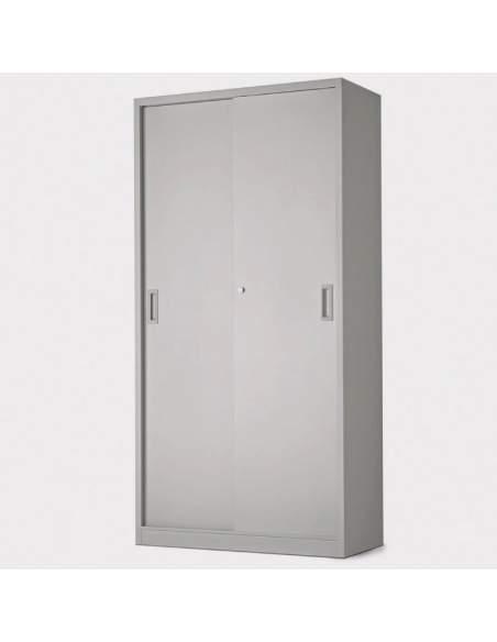 Armario metálico puertas correderas alto
