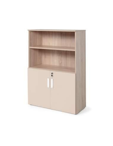 armario oficina color personalizado de JGorbe en olmo y beige