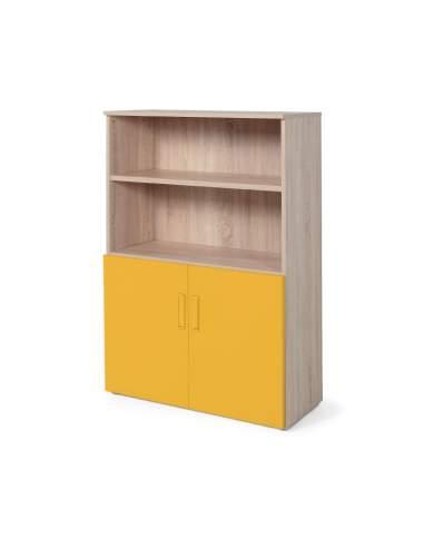 armario oficina color personalizado de JGorbe en olmo y mostaza