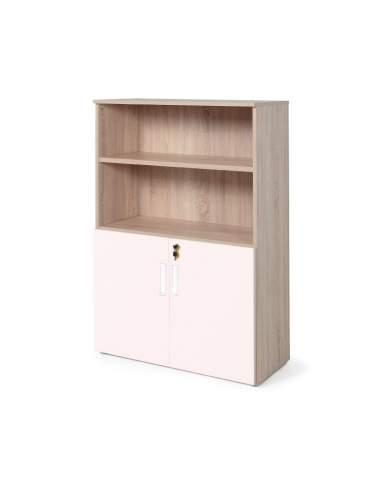 armario oficina color personalizado de JGorbe en olmo y rosa