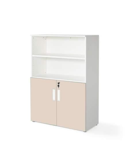 armario oficina color personalizado de JGorbe en blanco y beige