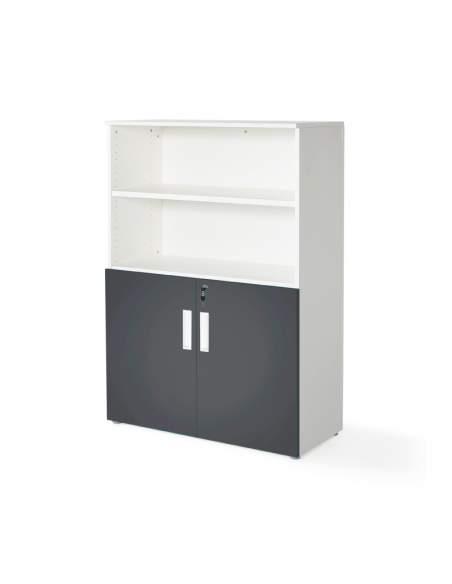 armario oficina color personalizado de JGorbe en blanco y grafito