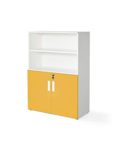 armario oficina color personalizado de JGorbe en blanco y mostaza