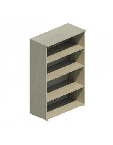 estantería de madera con 4 estantes de color olmo claro de jgorbe
