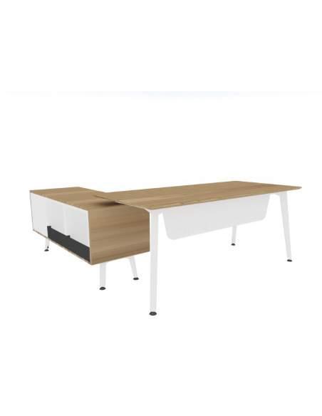 Mesa direccion Organova con mueble auxiliar de Iman