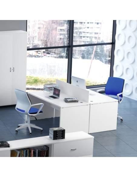 Mesa blanca oficina serie euro 2000 entrega express